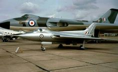 Avro 707C WZ744 with Vulcan. .