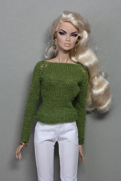 Sweater for for FR2, Nu Face Fashion Royalty, Color Infusion and similar dolls