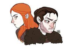 ⭐Jon Snow and Sansa Stark art by kyekunn⭐ fan art