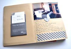 simple, clean journal: photo, memorabilia, a few words, masking tape