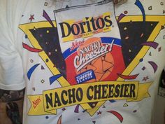 """FINNERTY!!! Vintage DORITOS Shirt 1992 """"D""""oritos Day. $15.00, via Etsy."""