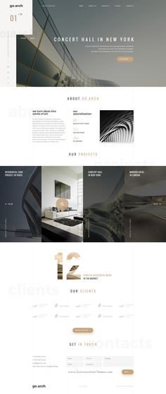 Arch - Architecture & Agency PSD | Arch architecture, Psd templates ...