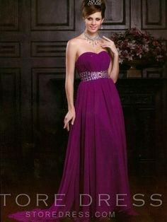 2014 Style A-line Sweetheart  Ruffles  Sleeveless Floor-length Chiffon Prom Dresses / Evening Dresses at Storedress.com