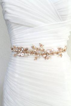 Gold or Silver Floral Leaf Vine Wedding Dress Belt. Wedding Sash Belt, Wedding Belts, Bridal Sash, Wedding Dresses, Pearl Bridal, Wedding Dress With Belt, Gown Wedding, Bridal Bouquets, Lace Wedding