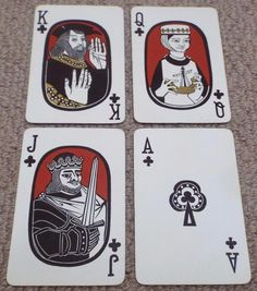 VINTAGE SCOTTISH HISTORICAL PACK OF NON STANDARD COURTS PLAYING CARDS - BLACK