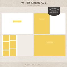 4x6 Photo Templates Vol. 2  FREE! :) Was just thinking about need to make some templates for PS this morning... now I can just make picture collages instead! :)