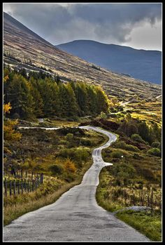 The winding road to Lundavra, Fort William.