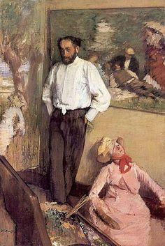Edgar Degas - Portrait of Henri Michel-Levy in his Studio 1879