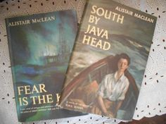 Alistair MacLean Book Bundle Fear is the Key and South By Java Head Author of HMS Ulysses. Hardcovers: very good condition, strong spines, tight bindings, clean interiors. Dust Jackets: good condition, light shelf wear, some very small tears. {S H I P P I N G }  We love books and lovingly, gingerly, package them in padded envelops or boxes and send them via media mail.  -----{ M A R G I N A L I A . B O O K S . O N . S O C I A L. M E D I A. } ------  FACEBOOK: https://www.facebook.co...