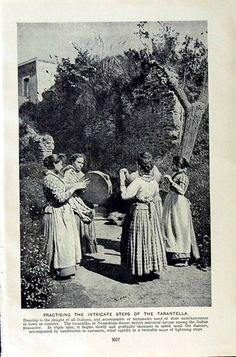 C1920 Tarantella Dance Girls Italy Nuns Convent Perugia