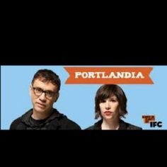 Portlandia.... Seriously considering thick bangs like Carrie Brownstein's.