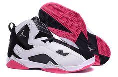 best sneakers 5cae2 2815d Women Jordan Shoes -jordan shoes for women Women Air Jordan 7 True Flight  GS White Black Pink 342774 122  Women Air Jordan 7 - Women Air Jordan 7  True ...