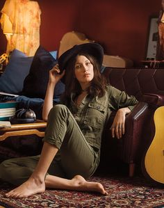 Bella Hadid for Denim & Supply Ralph Lauren's Fall 2015 campaign, photographed at Electric Lady Studios