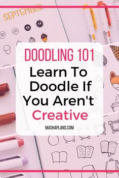 Afraid you aren't creative and can't create pretty doodles? But I know you can! Check out my guide on how I learned to doodle in my Bullet Journal. I know you will be able to create beautiful doodles and decorate your Bullet Journal spreads. #mashaplans #bulletjournal #bulletjournaling #doodles #howtodoodle #bujo