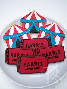 Circus Admission Cookie Platter