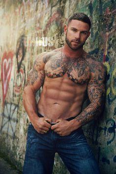 Naughty gay guys in tats hot sex