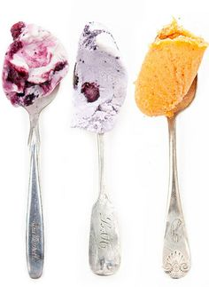 Yummy! Both the ice cream and the beautiful old spoons...