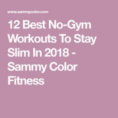 12 Best No-Gym Workouts To Stay Slim In 2018 - Sammy Color Fitness