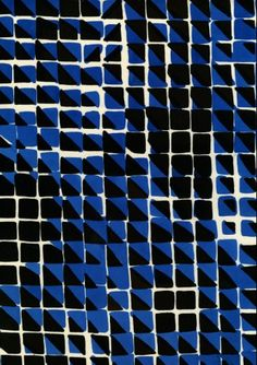 blue black grid, luli sanchez