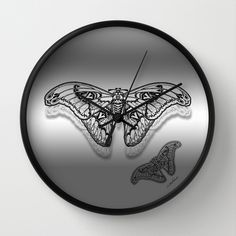 Buy Taking Flight by Vikki Salmela as a high quality Wall Clock. Worldwide shipping available at Society6.com. Just one of millions of products available. #new #black #white #grey #silver #art #deco #butterfly #butterflies #modern #contemporary #art on wall #clocks for #studio #home #kitchen #office #apartment #fashion #decor #accessory by Polka Dot Studio.