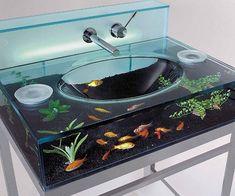 Aquarium Sink - https://tiwib.co/aquarium-sink/ #Bathroom #gifts #giftideas #2017giftideas #xmas