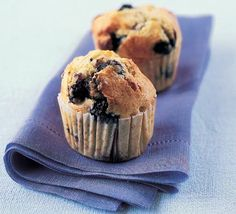 White chocolate blueberry muffins.