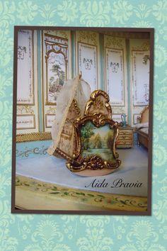 Cuna 1/12. Aida Pravia (jt-beautiful miniature painted crib by Aida Pravia)