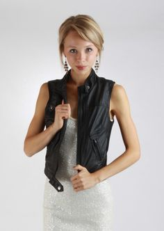 Leather Vest Jacket #leather #vest #kieus
