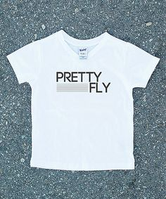 Another great find on #zulily! White 'Pretty Fly' V-Neck Tee - Infant, Toddler & Kids #zulilyfinds