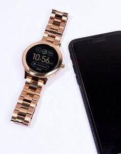 Fossil Q FTW6000 Venture Bracelet Smart Watch In Rose Gold at asos.com  Fossil Watches 9c1c8095a03