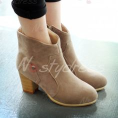 Concise Suede and Solid Color Design Women's Boots  http://www.nastydress.com/pg/7493.html