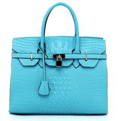 Wholesale Crocodile Effect Leather Tote Bags RLLH291 Blue