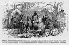 """""""A camp of refugees driven from their homes by Confederate troops"""""""