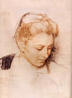 Drawing by Pietro Annigoni. Fine Art Drawing, Life Drawing, Figure Drawing, Drawing Sketches, Painting & Drawing, Art Drawings, Portrait Sketches, Pencil Portrait, Portrait Art