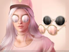 Miss Jackson Sunglasses by toksik at TSR via Sims 4 Updates