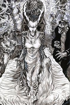 The Bride of Frankenstein by ElvinHernandez.deviantart.com on @deviantART