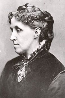 """Unitarian author Louisa May Alcott (1832 – 1888) wrote """"Little Women"""" and other works."""