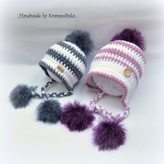 Kulišanka pro miminko. S návodem – Krampolínka Booties Crochet, Crochet Baby Hats, Manta Crochet, Kids Hats, Cat Toys, Hair Band, Crochet Projects, Winter Hats, Knitting