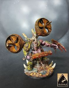 NURGLE-DAEMON-PRINCE-WITH-TALON-CONVERTION-PROPAINTED-FINECAST-WARHAMMER-40K
