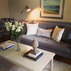 another shot of the living room staged.