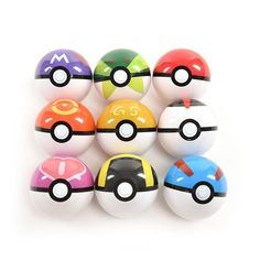Delicate Pokemon ball model Vivid appearance for cosplay game Made of high quality ABS material Excellent desktop decoration, great collection Awesome gift idea for Pokemon Fans Diameter: 7cm 9 styles