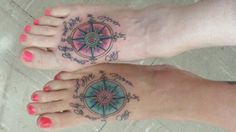 Best friend compass tattoo. Never lost with you by my side.