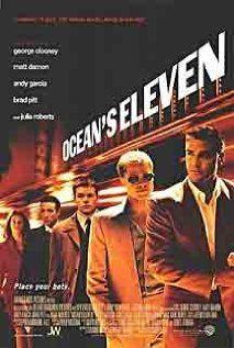 Ocean's Eleven (2001)  Directed by Steven Soderbergh,  Starring George Clooney, Brad Pitt, Julia Roberts, Bernie Mac, Matt Damon, ..