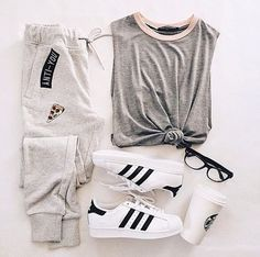 Outfit Adidas original shoes and joggers|| jogging with a T ...