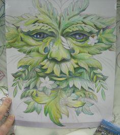 green man tattoo   Colour sample for Green Man tattoo