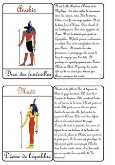 Cartes dieux égyptiens Seth Horus