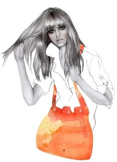 beautiful, black and white, collage, drawing, fashion, girl