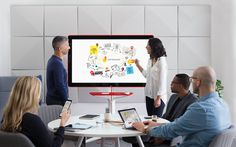 Google's new Jamboard is a digital whiteboard with a 4k display     - CNET                                              Google  Google on Tuesday announced Jamboard a digital whiteboard designed for enterprise customers. The board comes with two stylus pens and a digital eraser that allow you to write and erase like you would on a traditional whiteboard.   The Jamboard is all about collaboration. You can work with colleagues around the globe who are also using a Jamboard or information can…