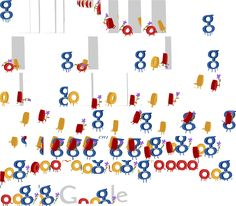 Animation sequence of Google's Mother's day logo