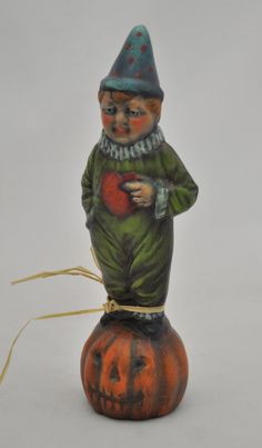Chalkware Boy on Pumpkin by folkhearts on Etsy, $60.00